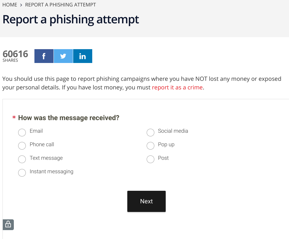 How to report a phishing scam