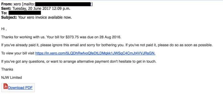 The fake invoice phishing scam