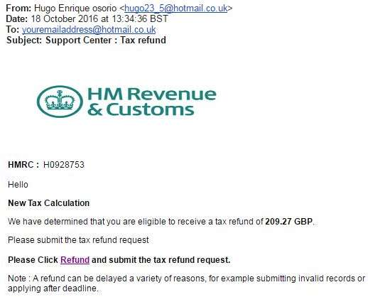 Council tax phishing scam